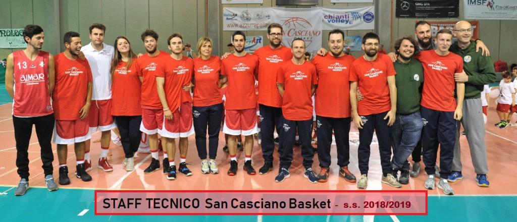 staff tecnico 2018-2019  san casciano basket