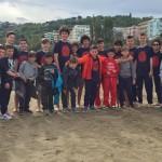 Under 14 e Scoiattoli sulla spiaggia