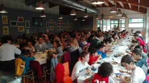 Un momento del pranzo al Circolo ARCI San Casciano