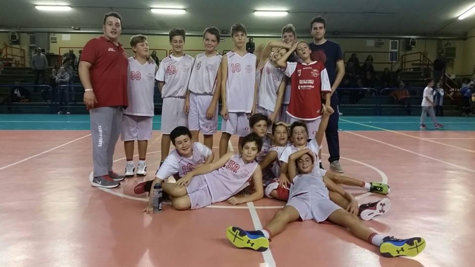 La squadra dell'Under 13 del Basket San Casciano