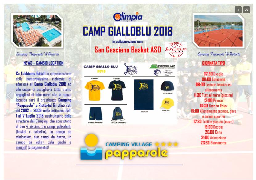 camp 2018 con pappasole