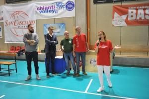 La Consigliera Poli Francesca con i Presidenti delle società ed il Sindaco Pescini