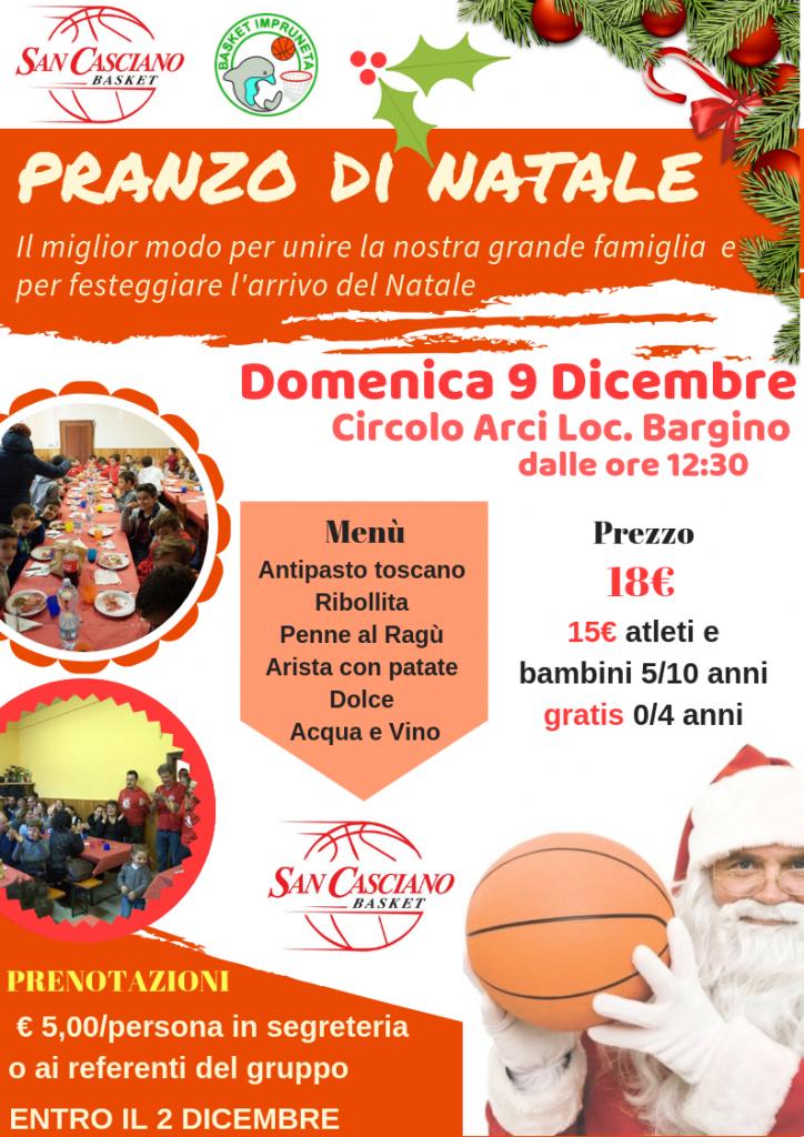 Pranzo Natale 2018 S.Casciano Basket