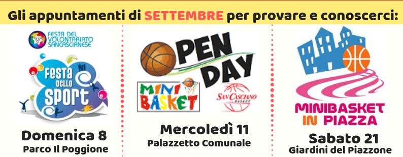 appuntamenti settembre minibasket