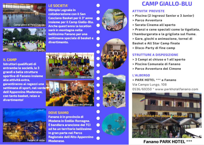 CAMP GIALLO_BLU 2020 retro brochure
