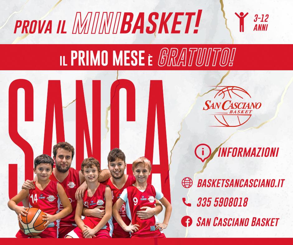 San Casciano MiniBasket copertina s.s. 2020-2021